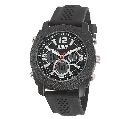 Wrist Armor Men's U.S. Navy C21 Watch, Black Dial, Black Stra