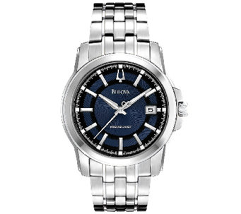 Bulova Men's Precisionist Blue Dial Stainless Steel Watch - J316462