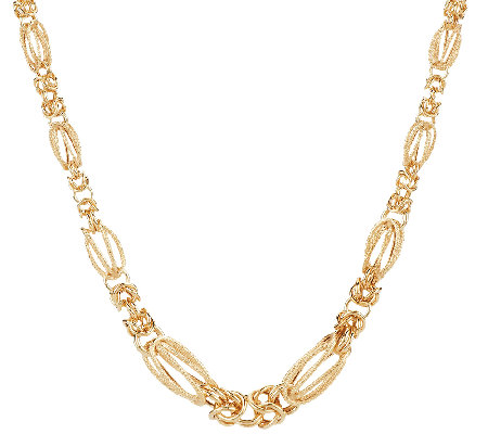 "14K Gold 20"" Graduated Byzantine Station Necklace, 11.4g"