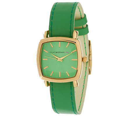 """As Is"" Isaac Mizrahi Live! Reversible Strap Watch"