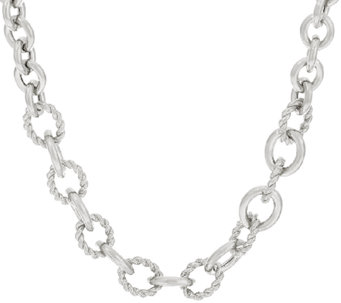 "Judith Ripka Sterling 20"" Verona Oval Link Necklace - J325662"