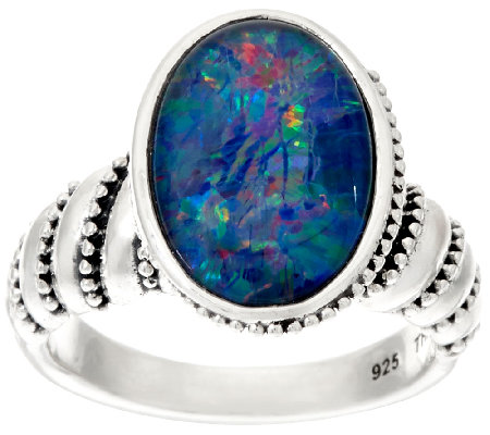 JAI Sterling Andaman Sea Opal Triplet Ring