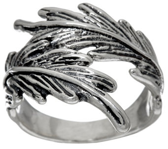 Hagit Sterling Silver Feather Ring - J328462