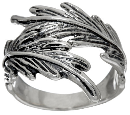 Hagit Sterling Silver Feather Ring