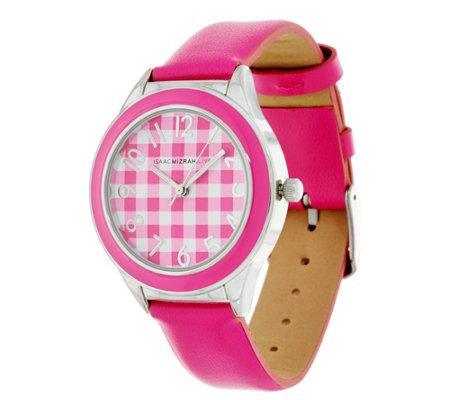 Isaac Mizrahi Live! Gingham Dial Strap Watch