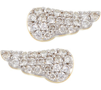 La Soula for Affinity Diamond Mini Angel Wing Stud Earrings - J333862