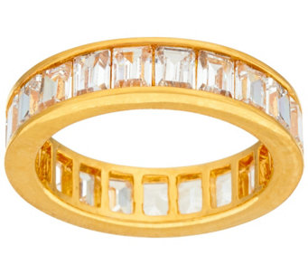 """As Is"" The Elizabeth Taylor 4.20cttw Simulated Diamond Band - J334162"