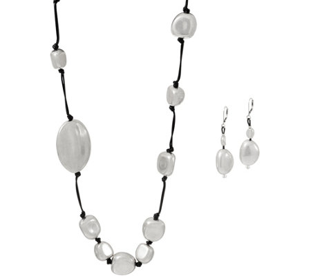 Linea by Louis Dell'Olio Cozumel Nugget Necklace and Earring Set