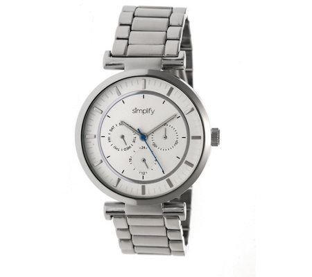 Simplify Stainless Bracelet Watch with White Dial