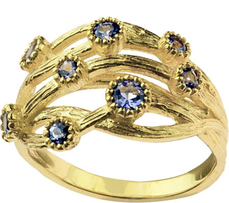Adi Paz Tanzanite Multi-Gemstone Band Ring, 14K Gold