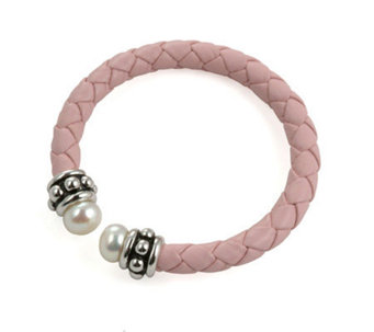 Honora Girl's Cultured Freshwater Pearl Pink Cuff Bracelet - J102663
