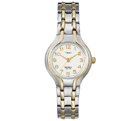 Timex Ladies' Two-Tone Sporty Dress Bracelet Wa tch