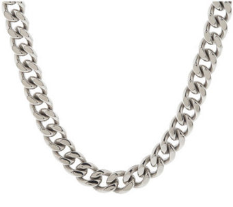 Forza Men's Stainless Steel Curb Link Necklace - J107263
