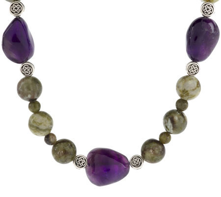 "Connemara Marble and Amethyst 19"" Necklace"