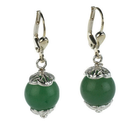 JMH Jewellery Sterling Silver Gemstone Earrings with Celtic Knot