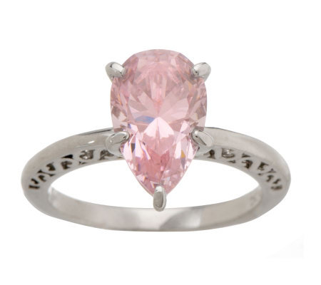 Smithsonian Simulated DeYoung Pink Diamond Ring