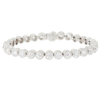 Judith Ripka Sterling 118 Facet Diamonique Tennis Bracelet - J296663