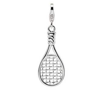 Amore La Vita Sterling Dimensional PolishedRacket Charm - J299863