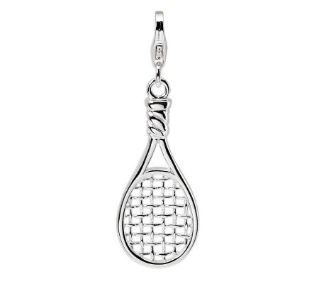 Amore La Vita Sterling Dimensional PolishedRacket Charm