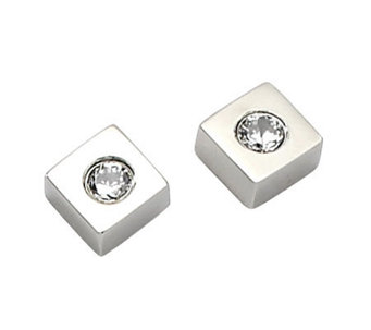 Stainless Steel Square Stud Earrings - J302463