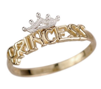 Disney Princess Tiara Ring, 14K Gold - J303463