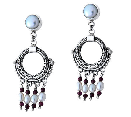 "Novica Artisan Crafted Sterling ""Classic Harmony"" Earrings"