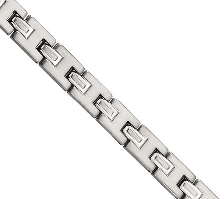 "Forza 8-1/2"" Brushed and Polished Prestigious Bracelet"