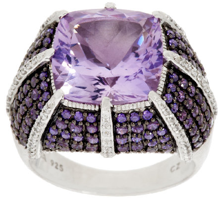 Judith Ripka 1.90 ct tw Diamonique & 7.20 ct Gemstone Ring