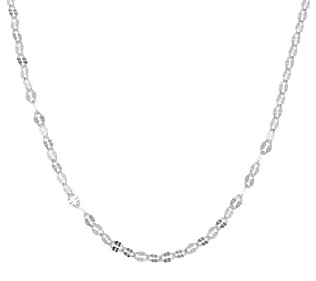 "Sterling Silver 16"" Diamond-cut Chain by Silver Style"