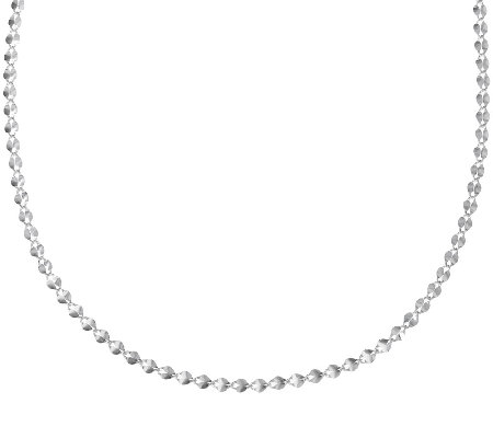 "UltraFine Silver 16"" Polished Double Oval Link Necklace, 2.6g"