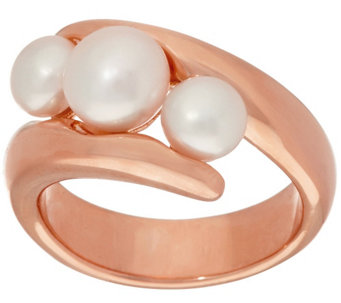 Honora Cultured Pearl Bypass Bronze Ring - J323863