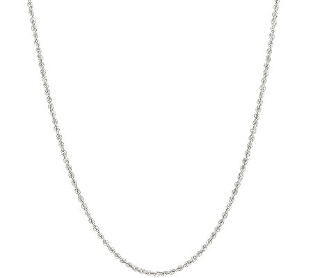 "Vicenza Silver Sterling 30"" Adjustable Chain, 10.6g"