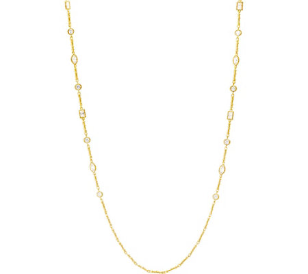 Judith Ripka 14K Clad 10.60 cttw Diamonique Station Necklace