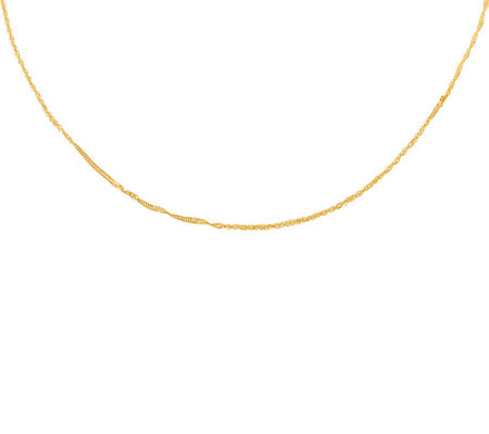"30"" Polished Singapore Chain, 14K Gold"