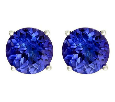 Premier 3.75 cttw Round Tanzanite Stud Earrings, 14K