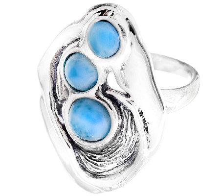 Hagit Sterling & Larimar Elongated Ring
