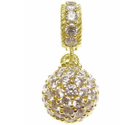 Judith Ripka Sterling 14K Clad Diamonique Charm
