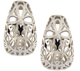 Vicenza Silver Sterling Openwork Earrings with Omega Back - J341963