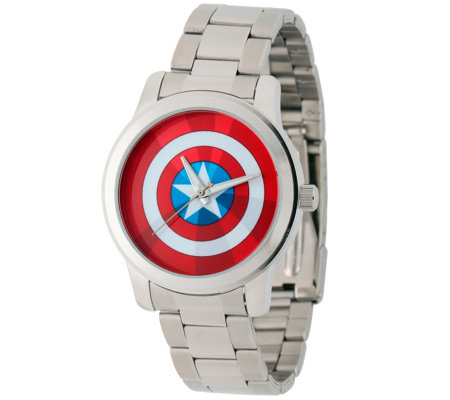 Marvel Captain America Men's Bracelet Watch