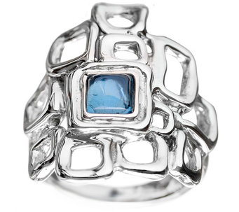 Hagit Sterling Silver & Blue Topaz Cabochon Ring - J345063