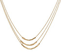 "14K Gold 18"" Multi-Strand Bar Necklace, 6.3g - J346463"