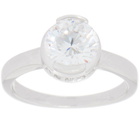 TOVA for Diamonique 2.0 cttw Round Solitaire Ring, Sterling