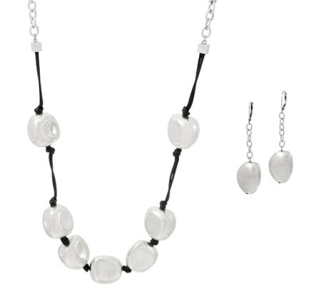 Linea by Louis Dell'Olio Cancun Nugget Necklace and Earring Set