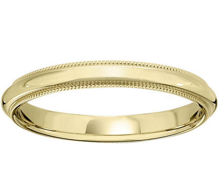 Men's 14K Yellow Gold 3mm Milgrain Wedding Band