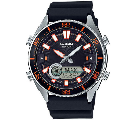 Casio Men's Black Analog-Digital Watch