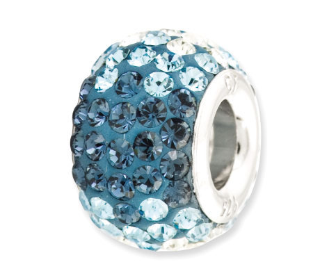 Prerogatives Sterling Blue Crystal Bead