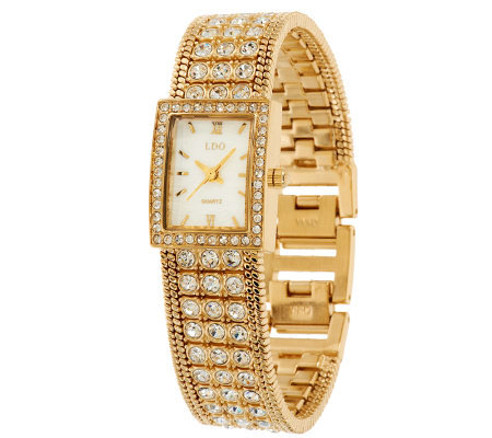 Linea by Louis Dell'Olio Crystal Bracelet Watch