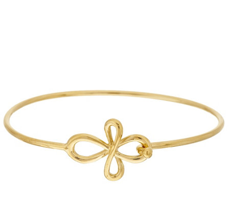 Stainless Steel Cross Clasp Bangle Bracelet