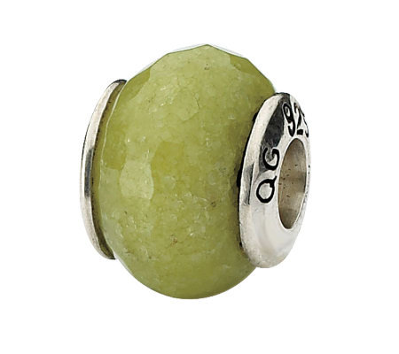 Prerogatives Sterling Apple Green Quartz Gemstone Bead