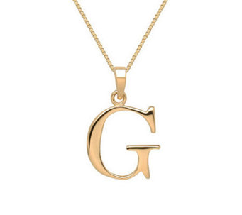 "EternaGold Polished Initial Pendant with 18"" Chain - J307264"